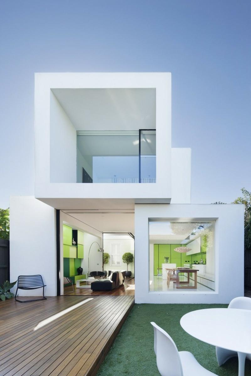 Moderne Häuser bauen Architektenhäuser Hausfassade offener Grundriss