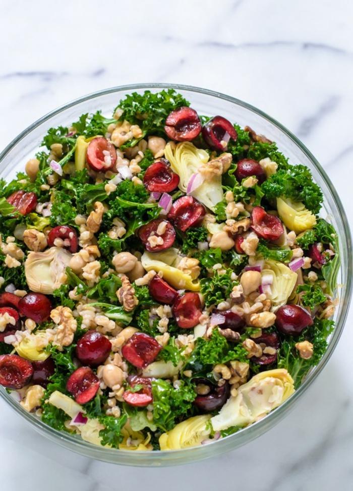 abnehmen mit blattsalat