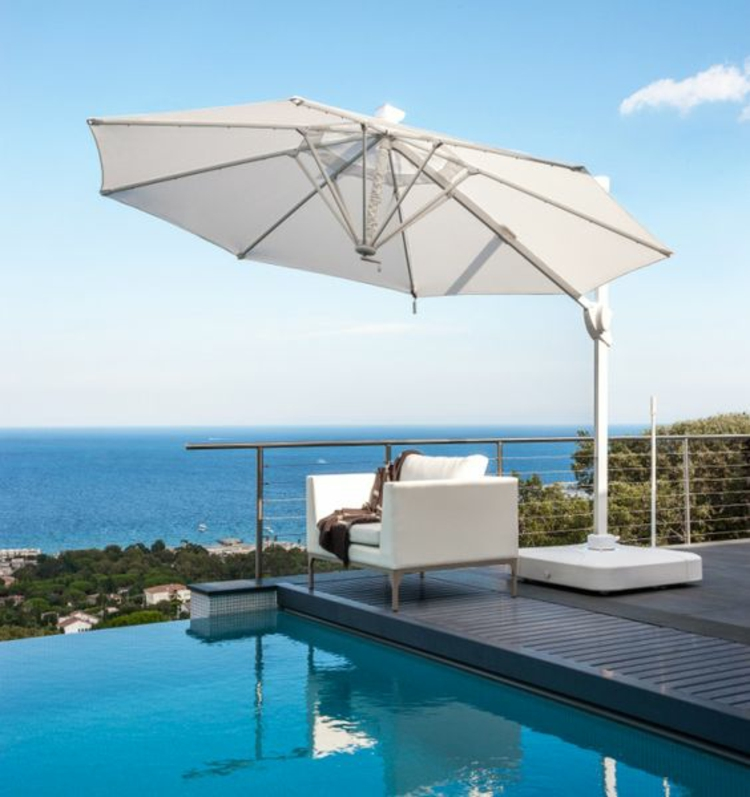 Sonnenschirme Rattanmöbel Garten Lounge Möbel Pool