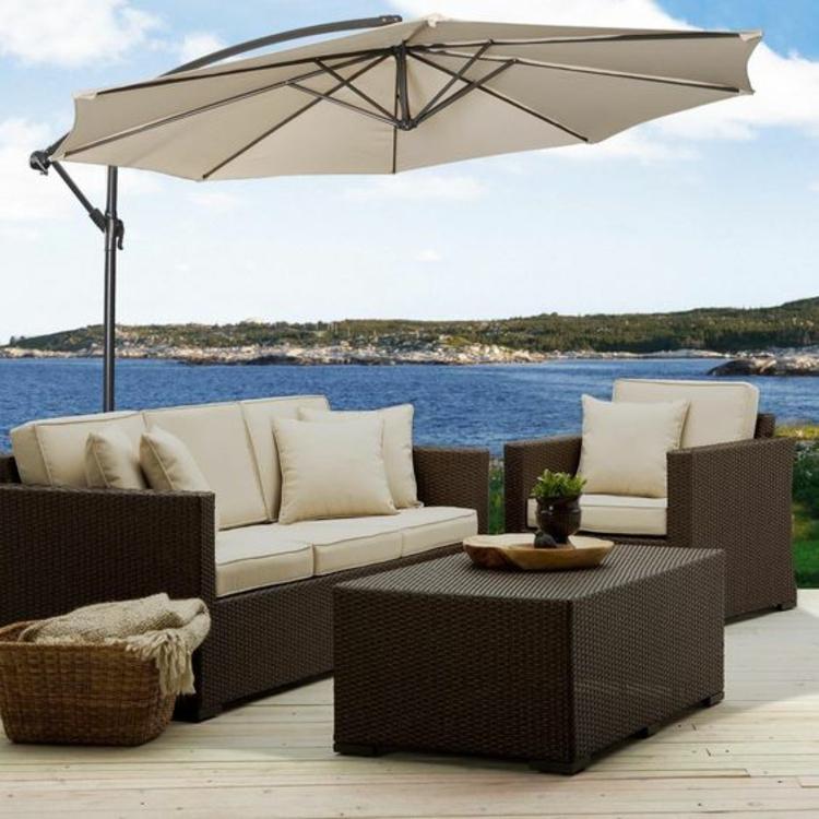 Sonnenschirme Rattanmöbel Garten Lounge Möbel Sonnensegel