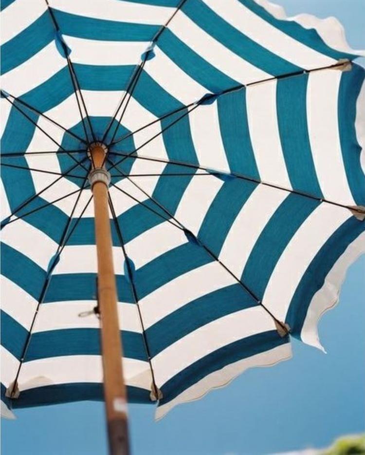 Sonnenschirme Strand Accessoires Sonnenschutz Streifen weiß blau