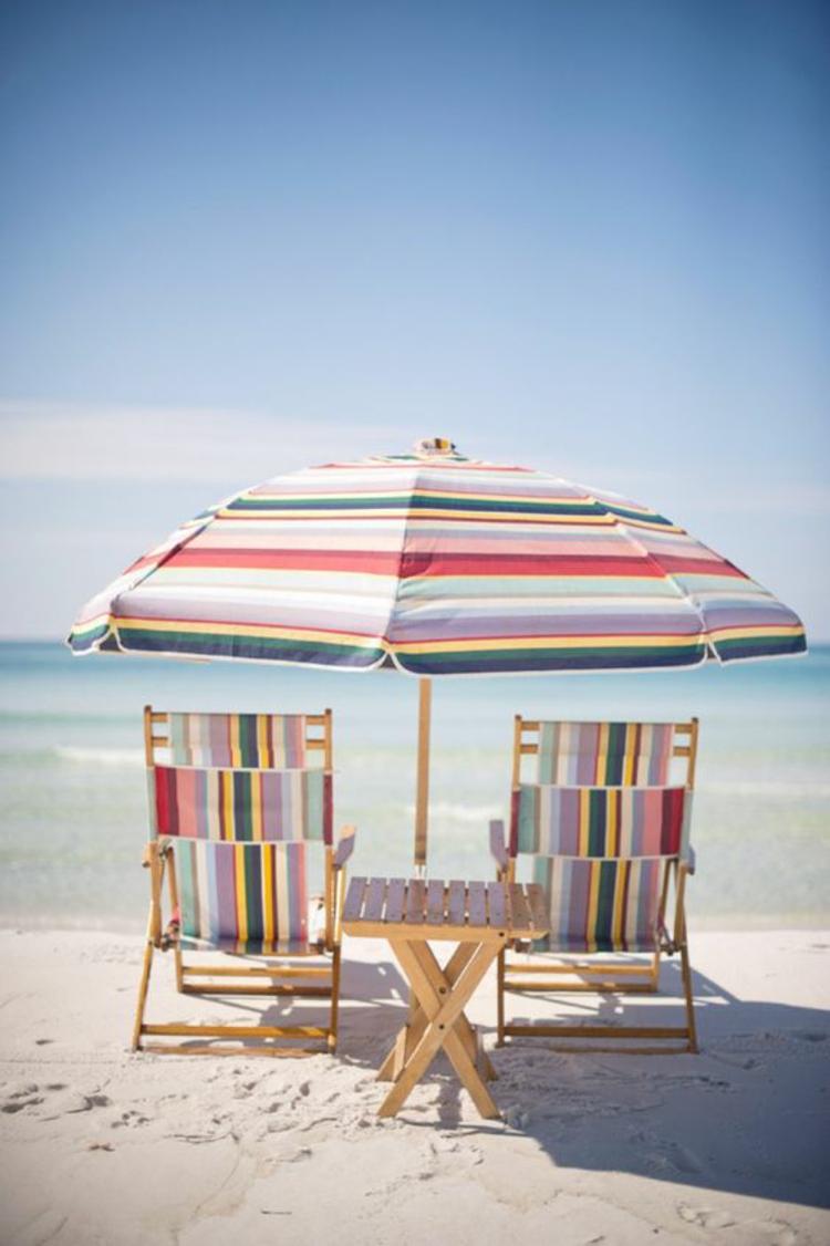 Sonnenschirme Strand Klappstühle Sonenschirm Streifen