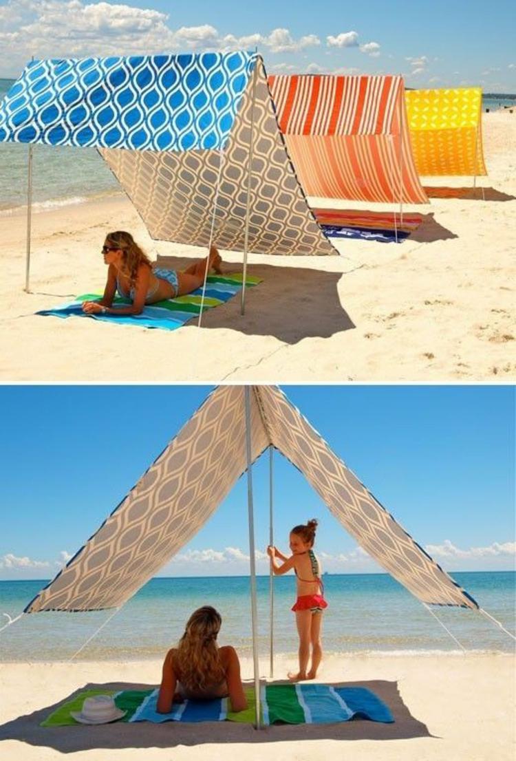 Sonnenschirme Strand Sonnenschirm eckig Sonnenschutz Meerurlaub