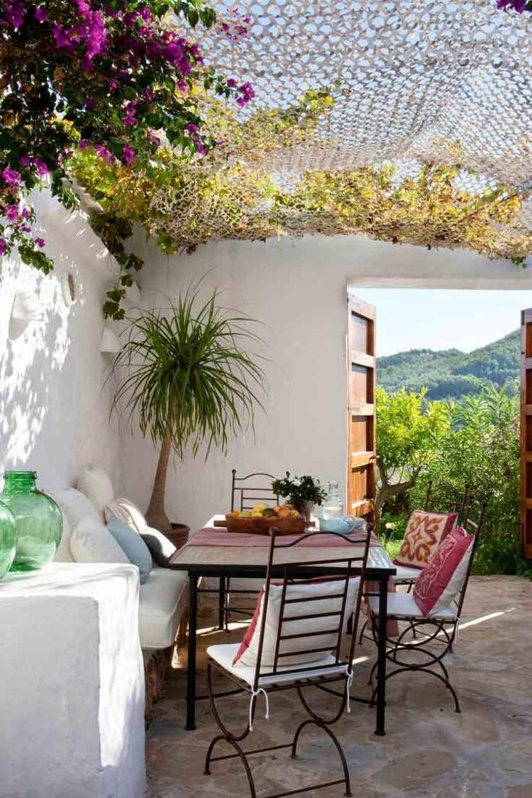 Vorgartengestaltung Vintage Stil Garten Wohlfühlecke