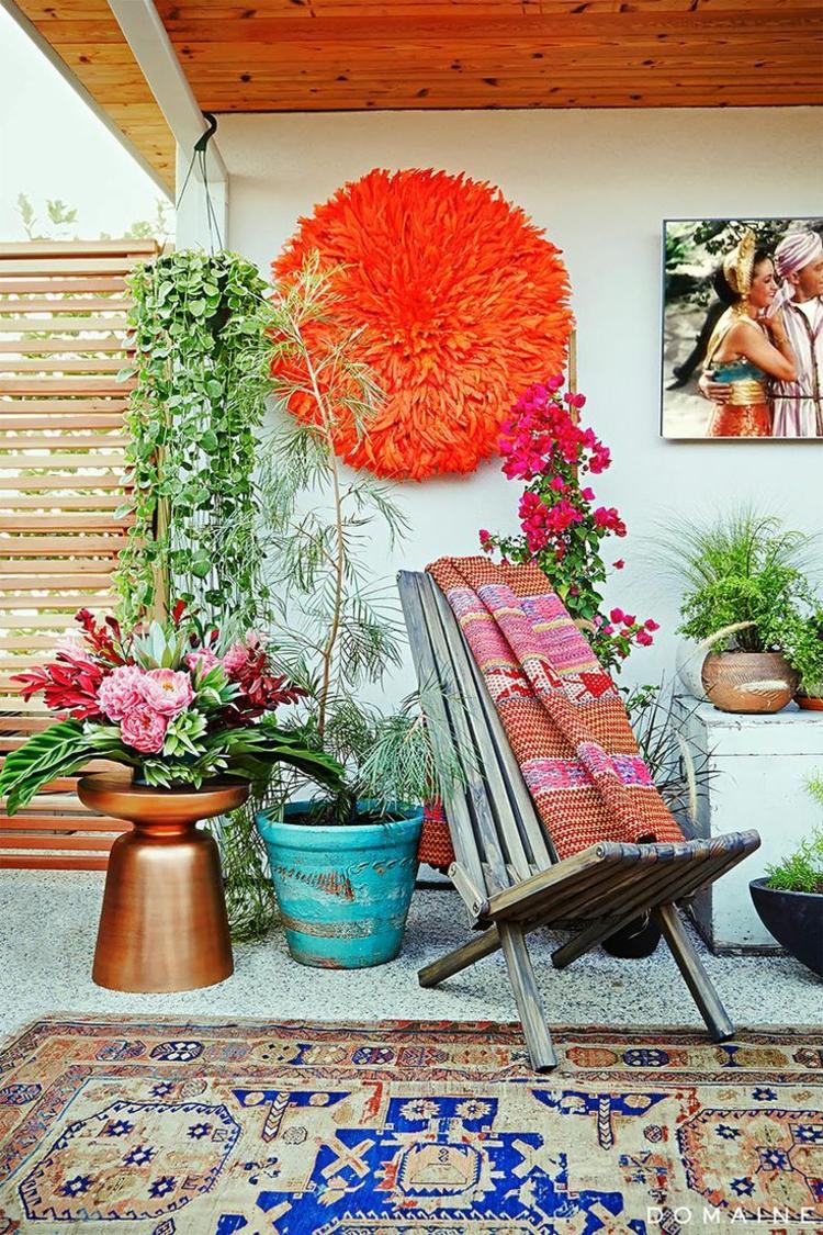 Vorgartengestaltung Vintage Stil schicke Gartenmöbel