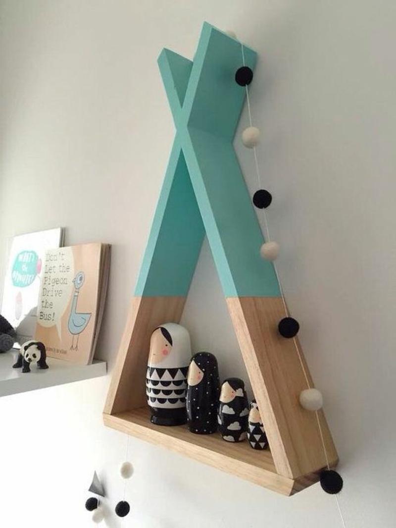 Wandregal selber bauen Anleitung DIY Regal bauen Kinderzimmer Möbel