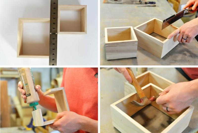 Wandregal selber bauen DIY Möbel Regal bauen