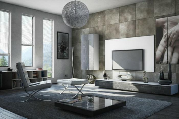 Wohnzimmer Ideen Wohntrends Wohnzimmermöbel Betonwand