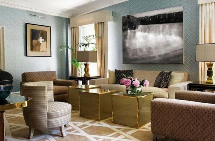 Wohnzimmer Ideen Wohntrends Wohnzimmermöbel Goldakzente