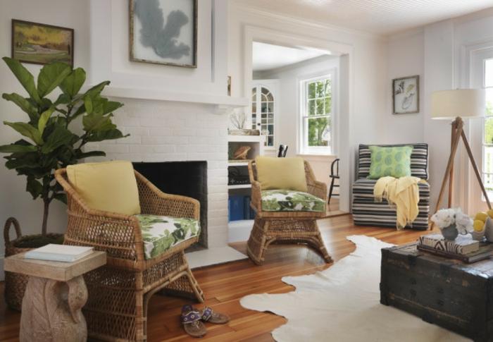 Wohnzimmer Ideen Wohntrends Wohnzimmermöbel Kühfellteppich