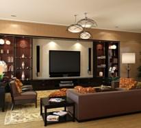 wohnzimmer ideen im einklang mit den aktuellen wohntrends - Wohnzimmer Ledersofa Braun