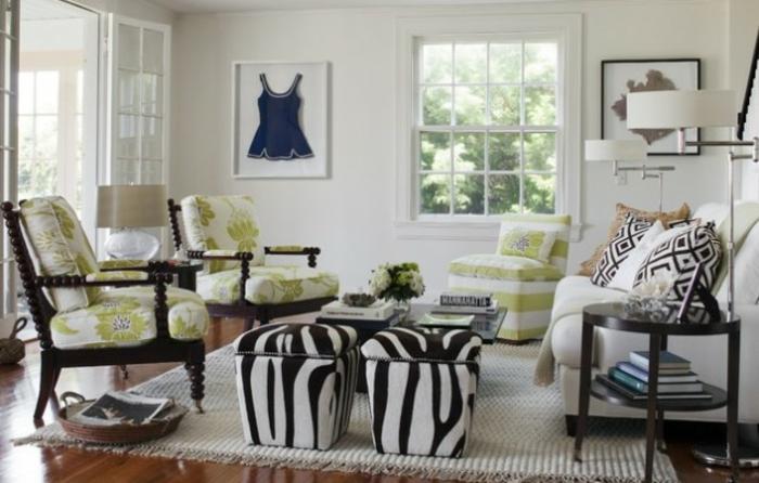 Wohnzimmer Ideen Wohntrends Wohnzimmermöbel Zebramuster