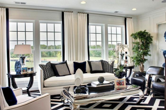 Wohnzimmer Ideen Wohntrends Wohnzimmermöbel schwarz weiß