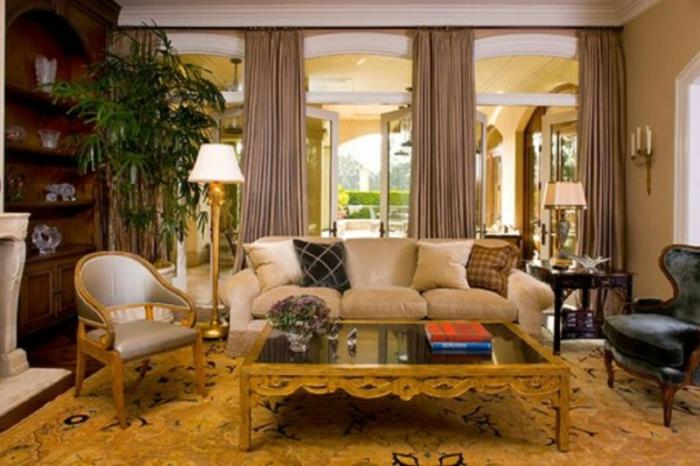 Wohnzimmer Ideen klassische Wohnzimmermöbel Holz