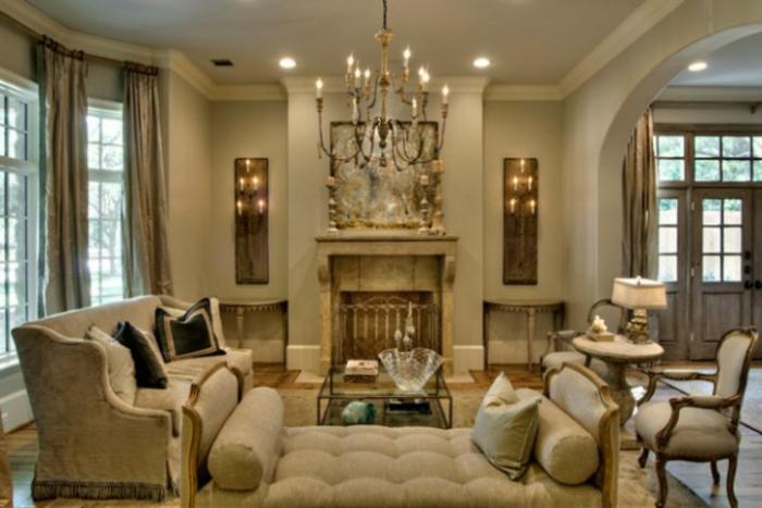 Wohnzimmer Ideen klassische Wohnzimmermöbel Polsterkobel Kamin
