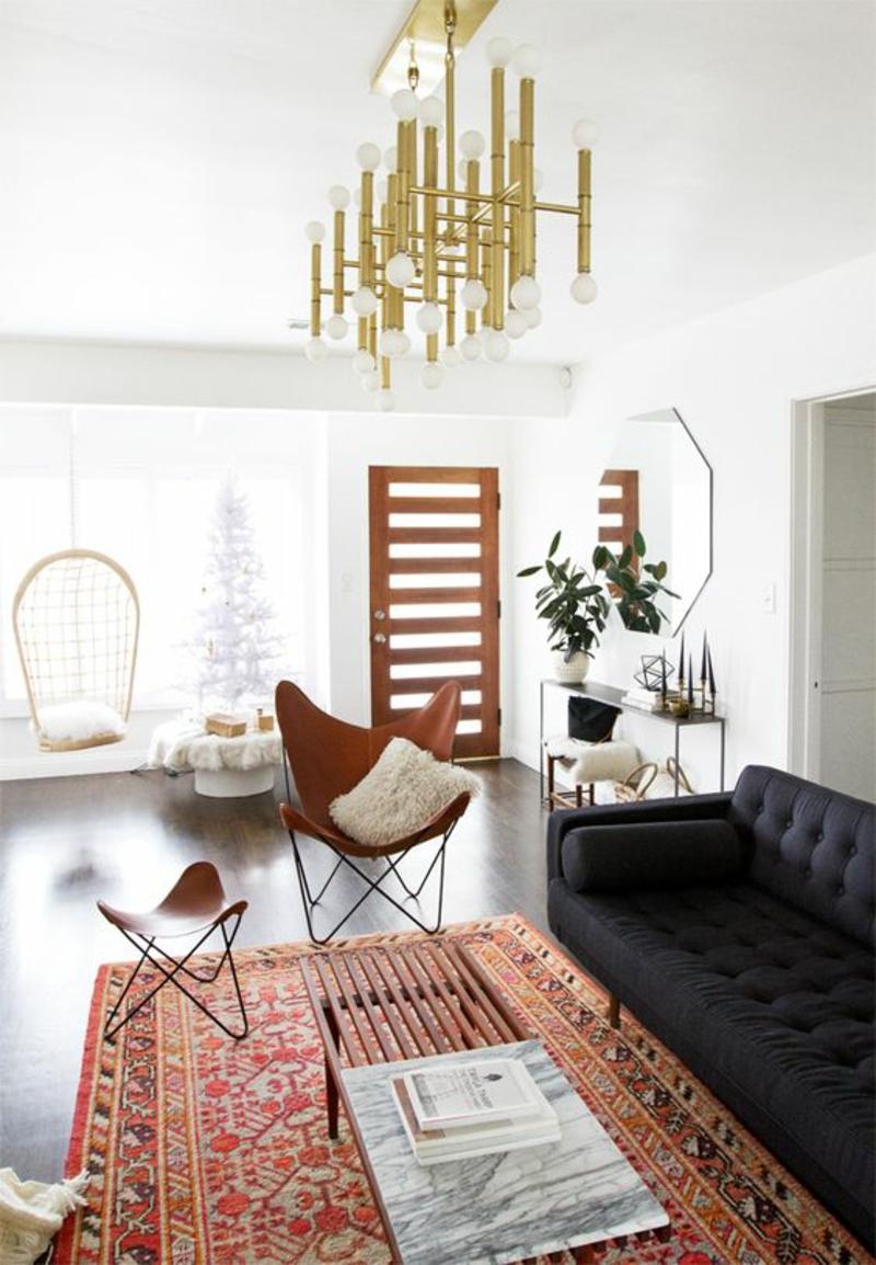 Wohnzimmerlampen Kronleuchter Gold Wohnzimmer Gestalten Beleuchtung