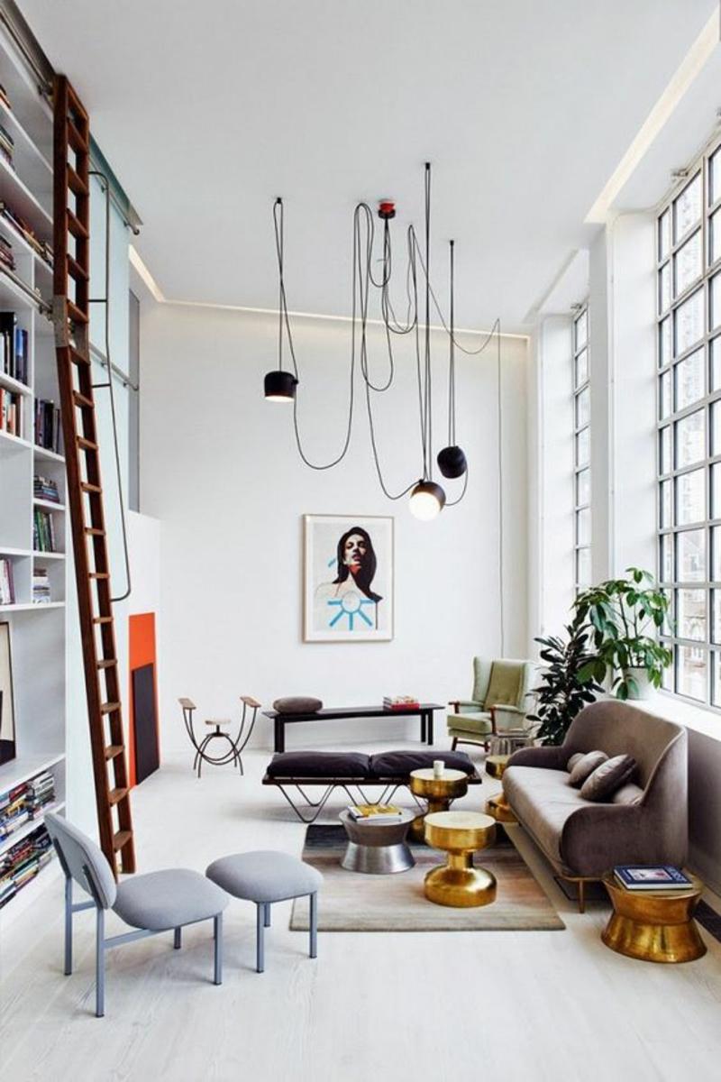 Wohnzimmerleuchten Effektvolle Pendelleuchten Schwarz Wohnzimmer Einrichten