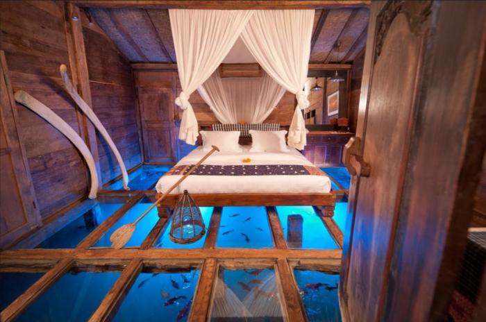 aquarium eirichten design atmosphäre einrichtungsbeispiele schlafzimmer