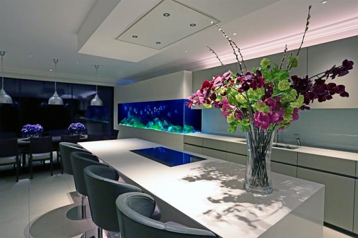aquarium eirichten design atmosphäre einrichtungsbeispiele wandgestaltung büro