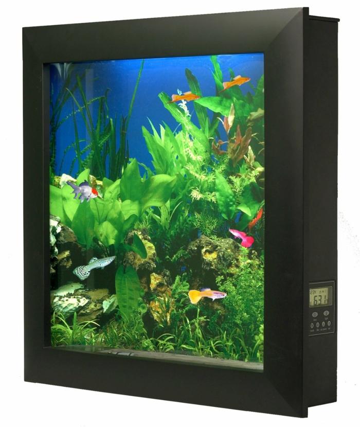 aquarium eirichten design atmosphäre einrichtungsbeispiele wandgestaltung mittig