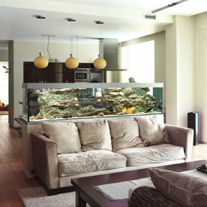 aquarium eirichten design atmosphäre einrichtungsbeispiele wandgestaltung teuer
