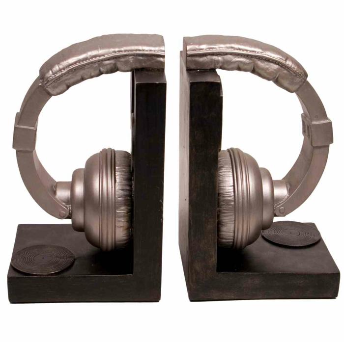 buchstützen set headphone bookends diy idee