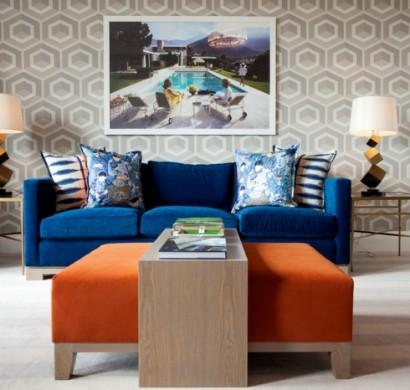 Blaues Sofa - 50 Einrichtungsideen mit Sofa in Blau, die sehenswert sind