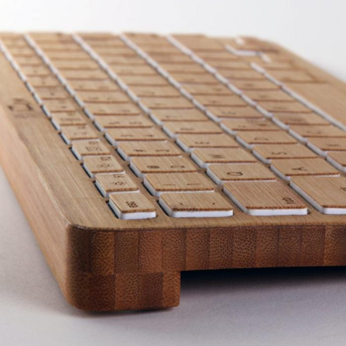 dekoideen bambusdeko wohnideen holzdeko raumtrenner tastatur holz
