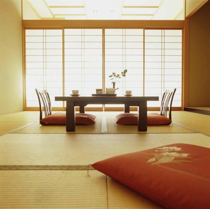 dekoideen bambusdeko wohnideen holzdeko raumtrenner teppich jalousien