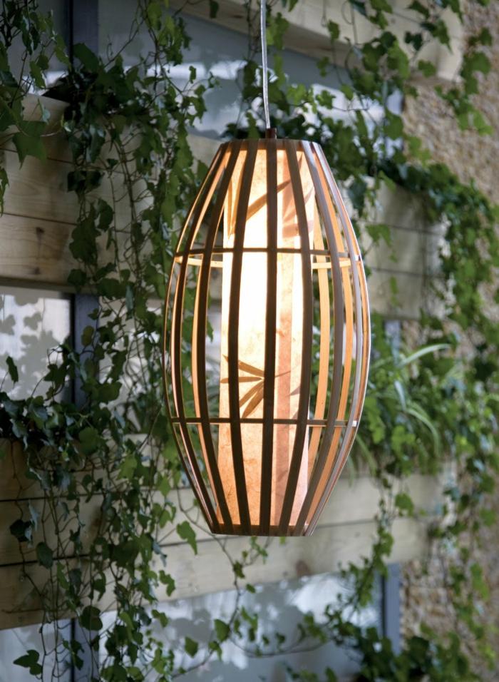 bambusdeko wohnideen holzdeko raumtrenner teppich wohnzimmer leuchte