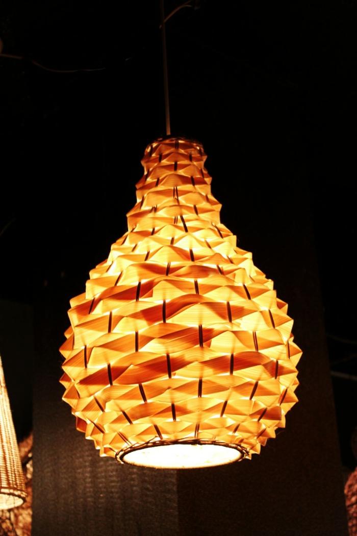 dekoideen bambusdeko wohnideen holzdeko raumtrenner teppich wohnzimmer lichter an