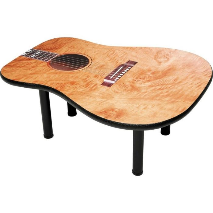 Upcycling Ideen dekoideen deko ideen wohnzimmer ideen DIY ideen kreativ gitarre beistelltisch
