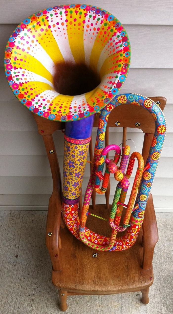 Upcycling Ideen dekoideen deko ideen wohnzimmer ideen DIY ideen kreativ gitarre deko