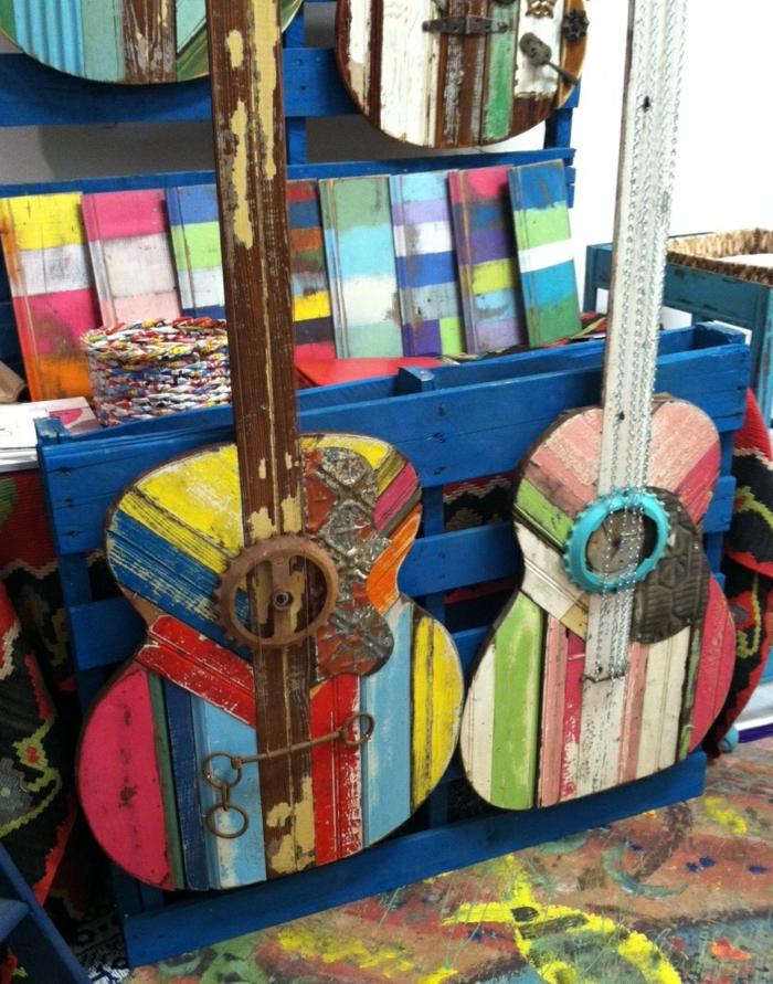 Upcycling Ideen dekoideen deko ideen wohnzimmer ideen DIY ideen kreativ gitarre greenspiration