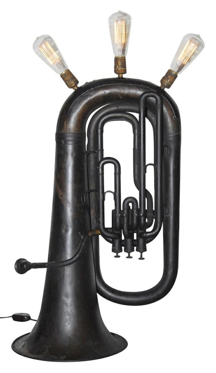 Upcycling Ideen dekoideen deko ideen wohnzimmer ideen DIY ideen kreativ gitarre tuba