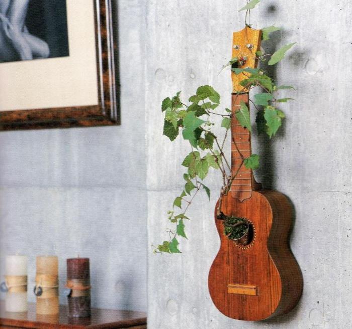 Upcycling Ideen dekoideen deko ideen wohnzimmer ideen DIY ideen kreativ gitarre