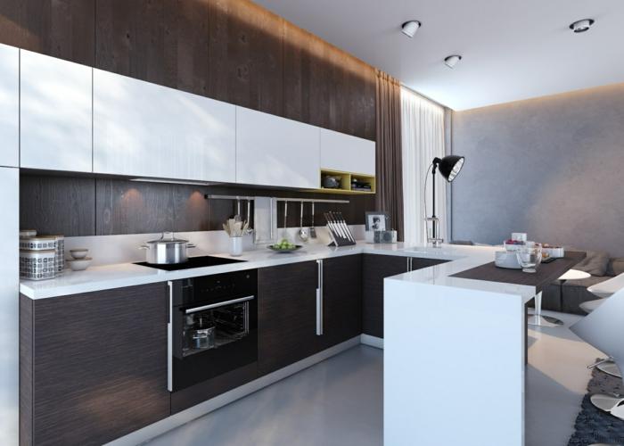 design küchen küche stauraum küchenschränke offener wohnplan