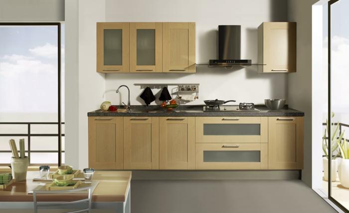 design küchen küchenschränke grauer boden weiße wände