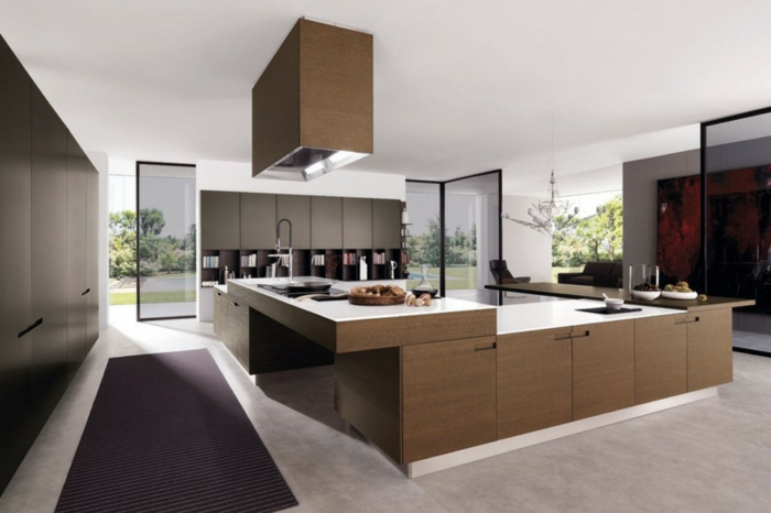 design küchen teppich große arbeitsfläche geräumig