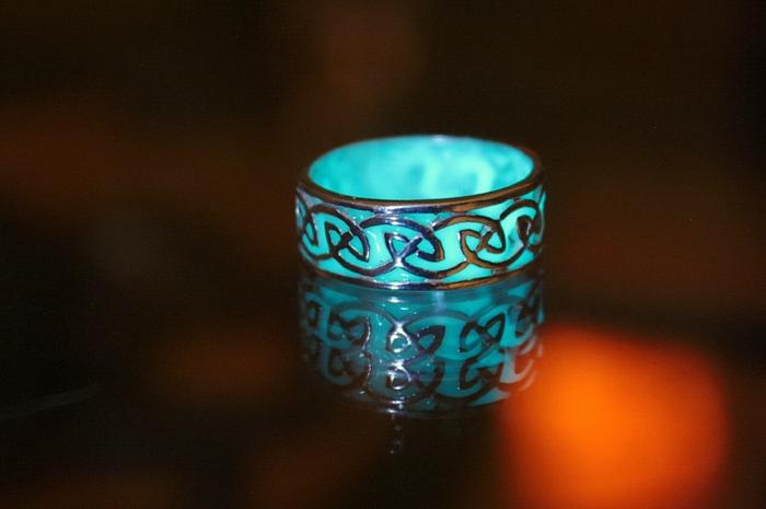 designer schmuck keltischer schmuck vintage schmuck leuchtend ring leuchte