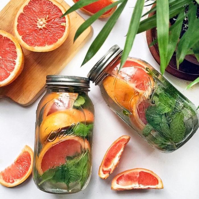 detox kur sommer entgiftung getränk grapefruit minze