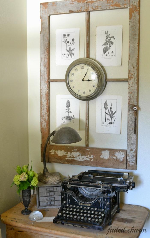 30 deko ideen und einrichtungsbeispiele wie sie die alten fenster wieder verwenden. Black Bedroom Furniture Sets. Home Design Ideas