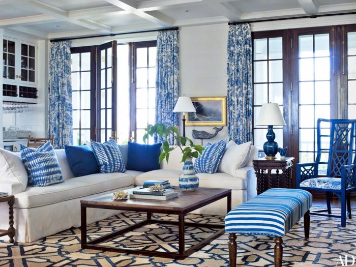 Wohnzimmer Deko Ideen Blau | ocaccept.com