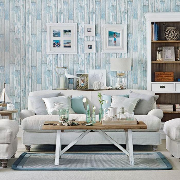 maritime deko krake blau wohnzimmer eingang seestern