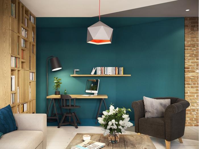 einrichtungsbeispiele wohnideen dekoideen geometrie farbe smart blau grün