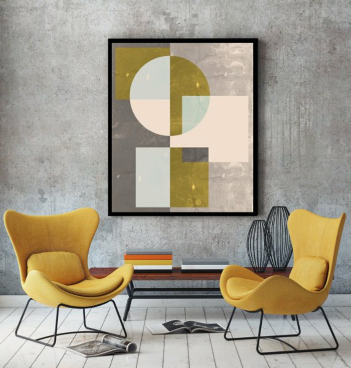 einrichtungsbeispiele wohnideen dekoideen geometrie farbe smart klare aussage kunstvoll