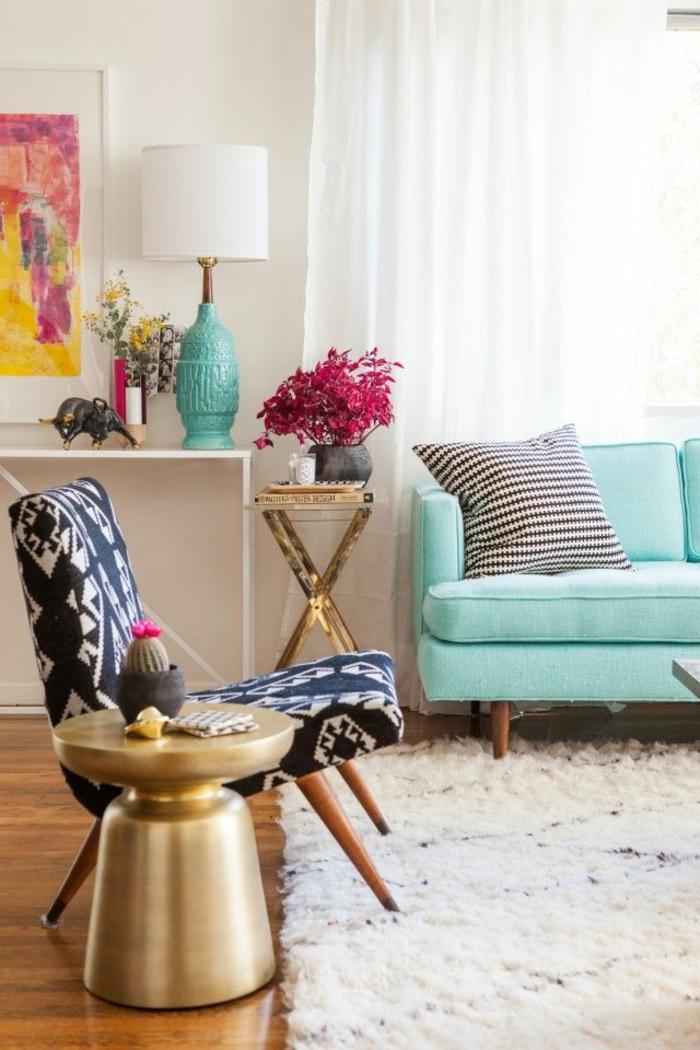 einrichtungsbeispiele wohnideen dekoideen geometrie farbe smart klare aussagen