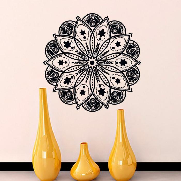 einrichtungsbeispiele wohnideen dekoideen geometrie farbe smart klare textur vinyl sticker
