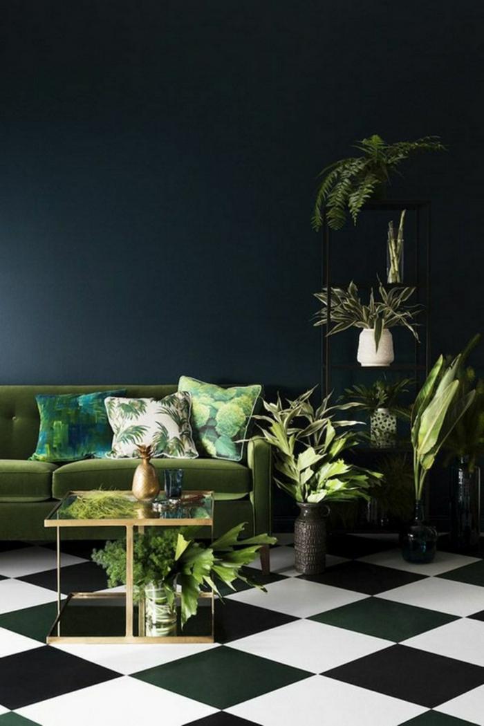 einrichtungsbeispiele wohnideen dekoideen geometrie farbe smart klare textur wand aufleber botanisch