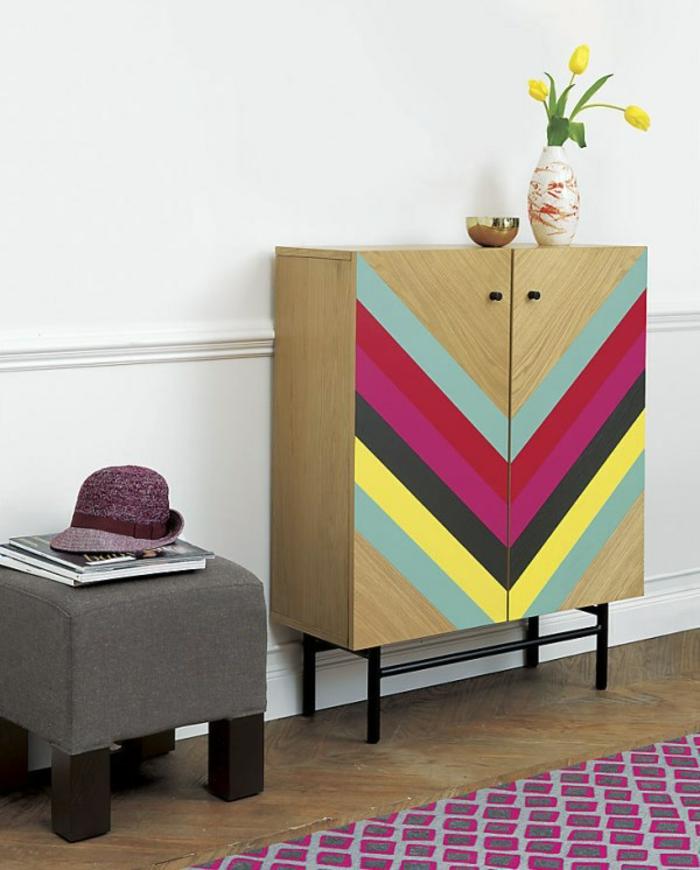 einrichtungsbeispiele wohnideen dekoideen geometrie farbe smart klare textur wand aufleber diaGONALE